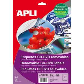 Етикети за CD/DVD Apli